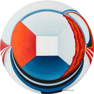 Open Sphere. Oil on linen. di 50 cm